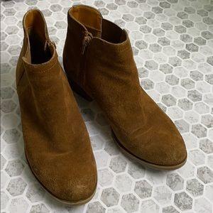 Kensie Garry Booties Size 9.5 Brown Leather